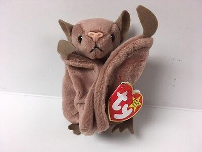 Ty Beanie babies 1996 batty Tag ERRORS Plush reTired NWT