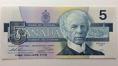 1986 Canada Five 5 Dollars GNM Series New Bill Note Uncirculated Banknote B029