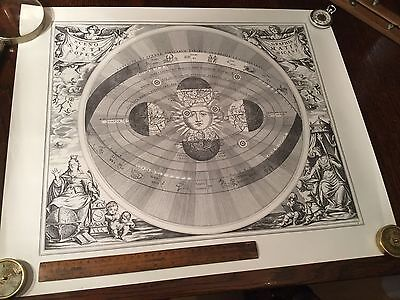 Antique Vintage Astronomy Astrology Map Chart Lithograph Print Engraving 5 of 7