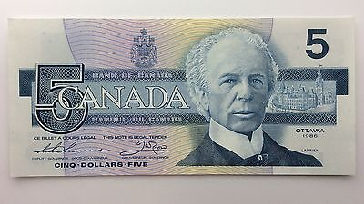 1986 Canada Five 5 Dollars EPV Series New Bill Note Uncirculated Banknote B030