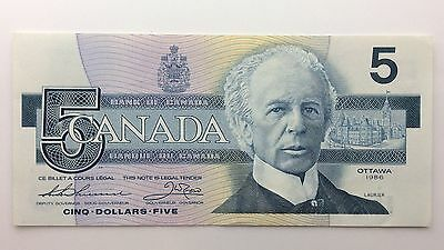 1986 Canada Five 5 Dollars FNC Series New Bill Note Uncirculated Banknote B038