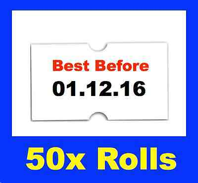 BEST BEFORE use by PRICE PRICING GUN TAGS LABELS x 50 ROLLS  BBF-L50