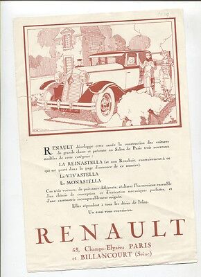 N°10219 /  3 documents RENAULT octobre 1928