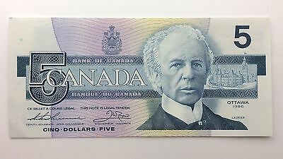 1986 Canada Five 5 Dollars GNS Series New Bill Note Uncirculated Banknote B041