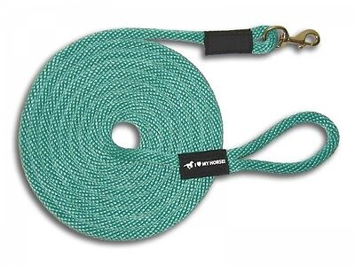 Horse Lead Lunge Line (35') Brass Snap - FREE SHPG! USA MADE! 16 Colors!