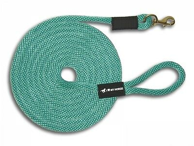 Horse Lead Lunge Line (50') Brass Snap - FREE SHPG! USA MADE! 16 Colors!