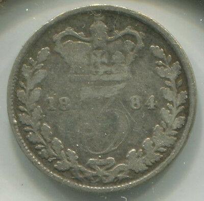 Great Britain - Silver Threepence [3-Pence] 1884