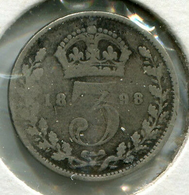 Great Britain - Silver Threepence [3-Pence] 1898