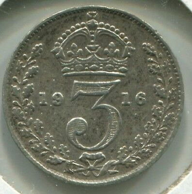 Great Britain - Silver Threepence [3-Pence] 1916