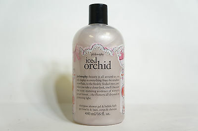 Philosophy Iced Orchid 3-in-1 Shampoo Shower Gel & Bubble Bath 16oz New Unsealed