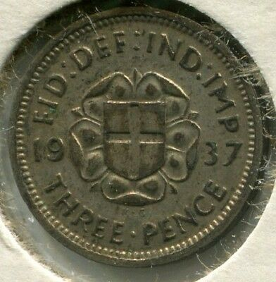 Great Britain - Silver Threepence [3-Pence] 1937