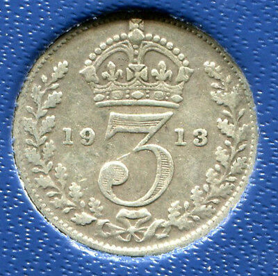 Great Britain - Silver Threepence [3-Pence], George V, 1913