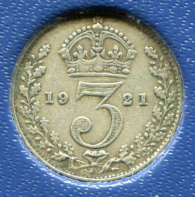 Great Britain - Silver Threepence [3-Pence], George V, 1921