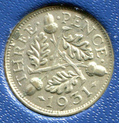 Great Britain - Silver Threepence [3-Pence], George V, 1931