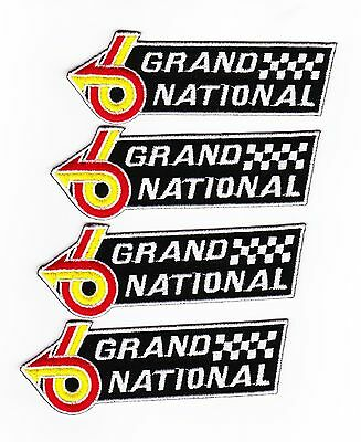 4 Buick Regal Grand National Sew/iron On Patch Emblem Embroidered Turbo V6