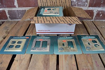 30 Assorted New Creative Accents Brass Electrical Light Switch and Socket Plates