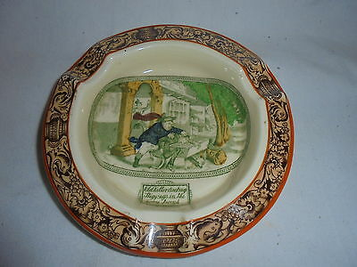 Vintage Adams Tunstall England ashtray illustrated from Pickwick Papers Dickens