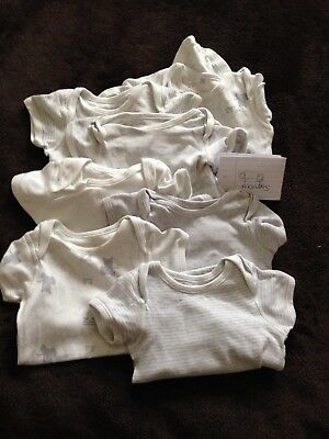 7 Baby Vests 9-12 Months M And S