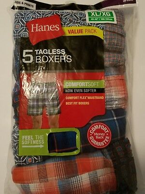 Hanes Comfort Flex Boxer Briefs 5 pack Sz XL