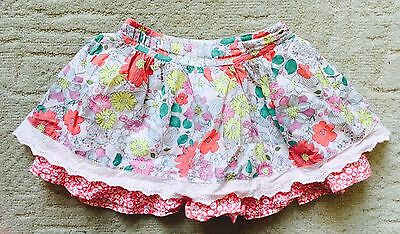 Baby Girls Stunning Summer Floral Skirt From Boots Mini Club 12-18 Worn Once 🎀