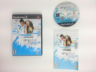Singstar Pop game for Sony Playstation 2 PS2 -Complete