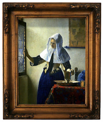 Vermeer The astronomer Wood Framed Canvas Print Repro 8x10