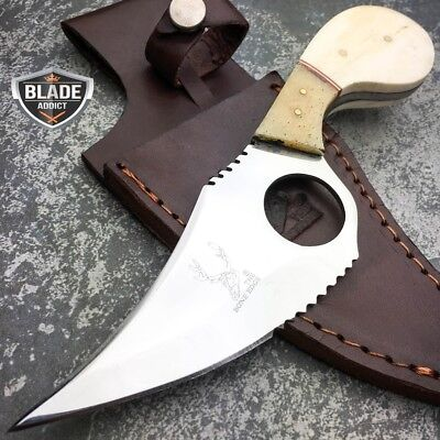 "7.5"" Hand Made Stainless Steel Fixed Blade FULL TANG Hunting Skinner BONE KNIFE"