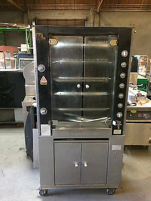 Used Rotisol 950.5 5 Spit Gas Rotisserie BBQ Oven