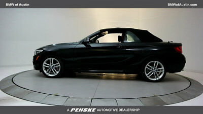 2017 BMW 2 Series 230i 230i 2 Series New 2 dr Convertible Automatic Gasoline 2.0L 4 Cyl Black Sapphire