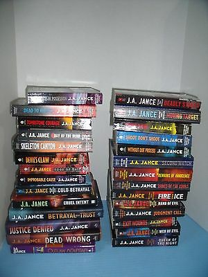 Lot Of 28 J.a. Jance*brady Reynolds Beaumont*without Due Process*dead Rights