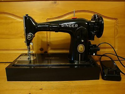 Vintage Singer Sewing Machine 201-2 ,gear Driven ,fully Serviced