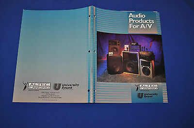 Altec Lansing University Sound Audio Products For A/V Catalog 1995 Excellent