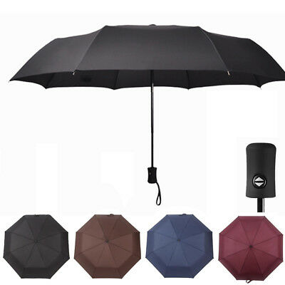 Automatic Open Close Anti-UV Sun Rain Compact Umbrella 3 Folding Windproof US
