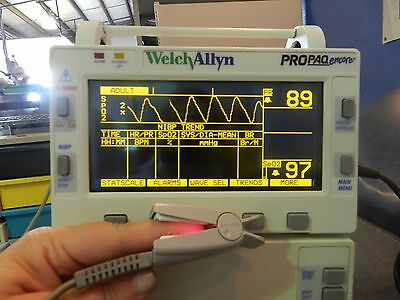 Welch Allyn Propaq 204 EL Patient Monitor w/ Printer, Power Pack, CO2, ECG leads
