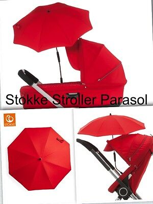 Stokke Stroller Parasol w/positionable arm (stroller sunshade umbrella)RED  2017