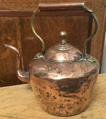 Antique 19Th C Large Copper Kettle   Country House Kitchen