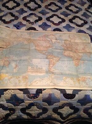 Vintage 1957 National Geographic World Map
