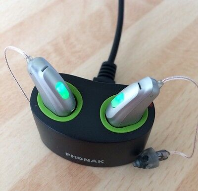 Pair Of Phonak Belong 90-R Rechargeable Digital Hearing Aids