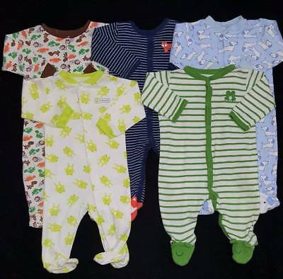 Baby Boy 6/9 Months Sleepers Clothes Outfits Lot