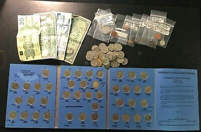 $55+ Face Value Canadian Currency Coins & Paper Money- Canada-071962