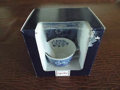 RARE SPODE Blue Italian Botanical Floral Tea Cup and Saucer NIB