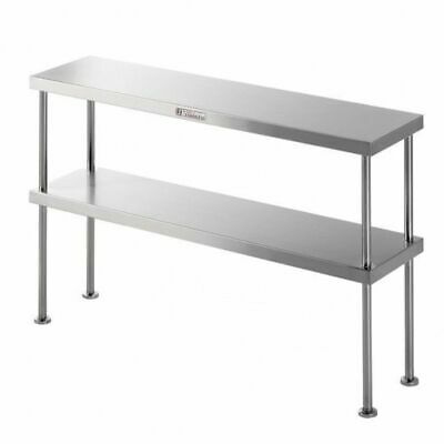 Simply Stainless Steel Bench Overshelf Double 2100x300x450mm Kitchen Storage
