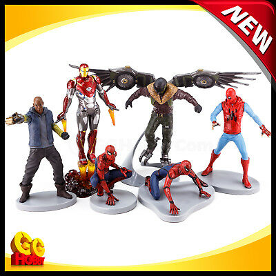 NEW Loose Spider-Man Figure Playset Homecoming Cake Topper Iron Vulture Shocker