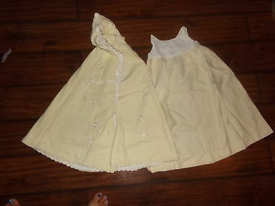 ANTIQUE DRESS & JACKET-EMBROIDERED-WOOL?28in-CHRISTENING-DRESS-GOWN-NR!
