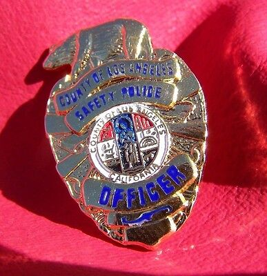 City of Los Angeles Safety Police Officer Mini Badge Tie tack/lapel pin