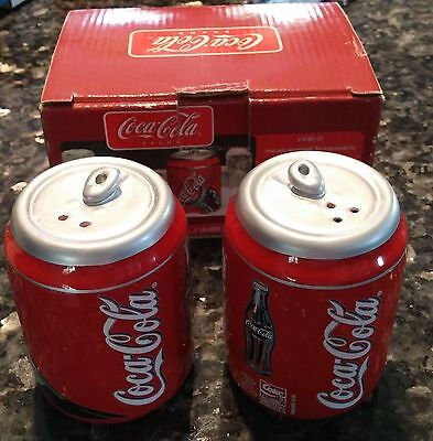 Coca Cola Can Salt and Pepper Shakers in Box