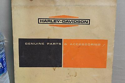 1950's HARLEY DAVIDSON MOTORCYCLE MANUAL ENVELOPE SIGN GAS OIL SEED TEXAS