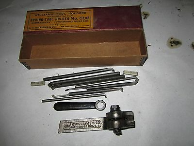 JH Williams Boring Tool Holder No 00B in Box w/ Wrench and Bars Atlas Craftsman