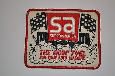SuperAmerica Oil & Gas/Racing Patch - The Goin' Fuel for Your Auto Machine - NOS