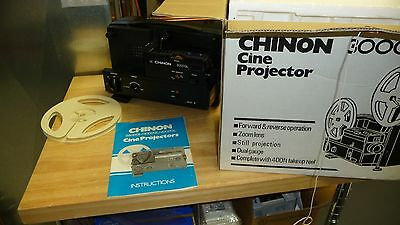 Chinon 3000 8Mm  & Super 8 Varible Speed Projector New Belt / Box Complete